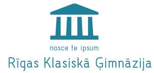 Logo of Rīgas Valsts klasiskās ģimnāzijas e-mācību vide